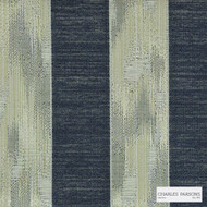 Charles Parsons Interiors - Hertfordshire Denim  | Curtain Fabric - Stripe, Uncoated, Weave, Commercial Use