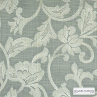Charles Parsons Interiors - Totteridge Celadon | Curtain Fabric - Grey, Floral, Garden, Botantical, Traditional, Uncoated, Damask