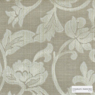 Charles Parsons Interiors - Totteridge Mocha | Curtain Fabric - Beige, Floral, Garden, Botantical, Traditional, Uncoated, Damask