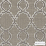 Charles Parsons Interiors - Jefferson Sand | Curtain Fabric - Tan, Taupe, Uncoated, Geometric, Quatrefoil