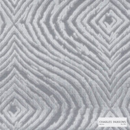 Charles Parsons Interiors - Louisiana Silver | Curtain Fabric - Grey, Contemporary, Uncoated, Transitional, Geometric, Ogee