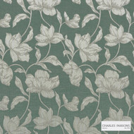 Charles Parsons Interiors - Cromwell Bayleaf | Curtain Fabric - Green, Floral, Garden, Botantical, Uncoated