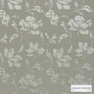 Charles Parsons Interiors - Cromwell Biscotti | Curtain Fabric - Tan, Taupe, Floral, Garden, Botantical, Uncoated