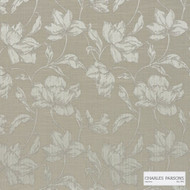 Charles Parsons Interiors - Cromwell Mocha | Curtain Fabric - Beige, Floral, Garden, Botantical, Uncoated