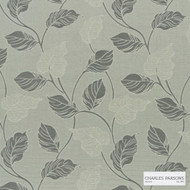 Charles Parsons Interiors - Marseille Silver  | Curtain Fabric - Grey, Floral, Garden, Uncoated, Weave, Commercial Use, Jacquards