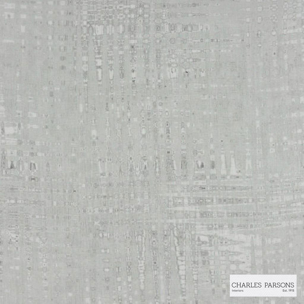 Charles Parsons Interiors - Amore Stone  | Curtain Sheer Fabric - Fire Retardant, Grey, Geometric, Uncoated, Weave