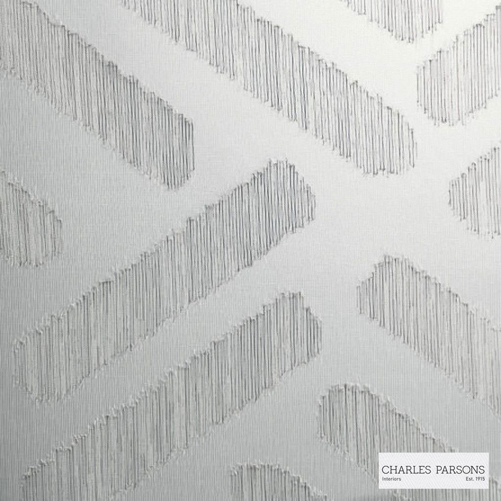 Charles Parsons Interiors - Parquetry Stone  | Curtain Sheer Fabric - Grey, Contemporary, Geometric, Uncoated, Weave