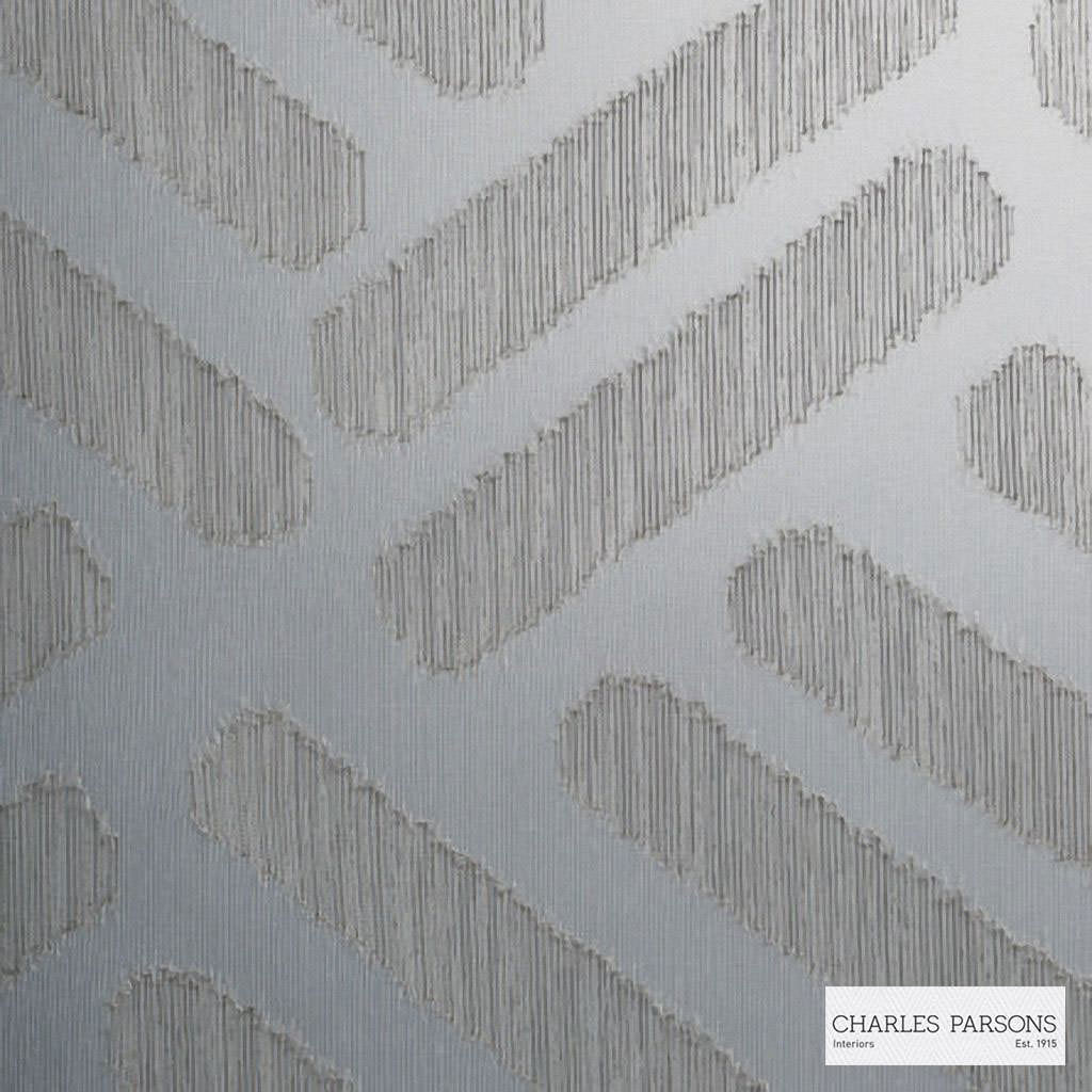 Charles Parsons Interiors - Parquetry Storm | Curtain Sheer Fabric - Grey, Contemporary, Uncoated, Geometric