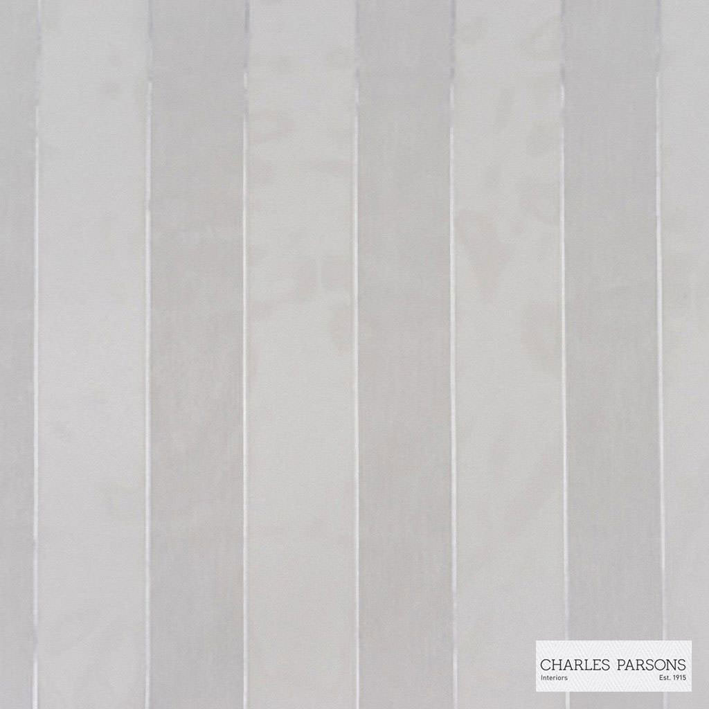 Charles Parsons Interiors - Abbey Dove  | Curtain Sheer Fabric - Fire Retardant, Stripe, Uncoated, Weave, Commercial Use