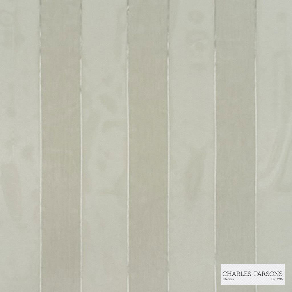 Charles Parsons Interiors - Abbey Oatmeal  | Curtain Sheer Fabric - Fire Retardant, Stripe, Uncoated, Weave, Commercial Use