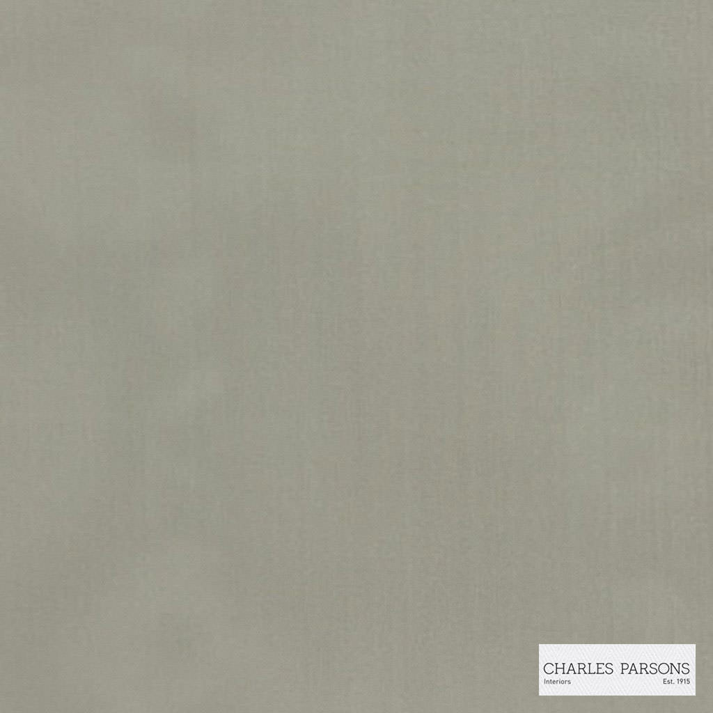 Charles Parsons Interiors - Clarence Putty  | Curtain Sheer Fabric - Fire Retardant, Grey, Plain, Uncoated, Weave