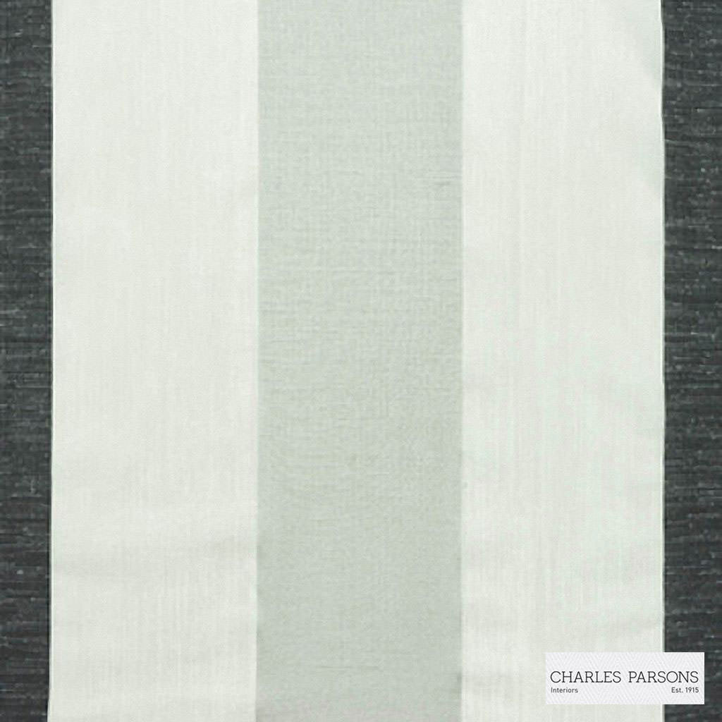 Charles Parsons Interiors - Malo Ash  | Curtain Sheer Fabric - Fire Retardant, Grey, Stripe, Uncoated, Weave, Commercial Use