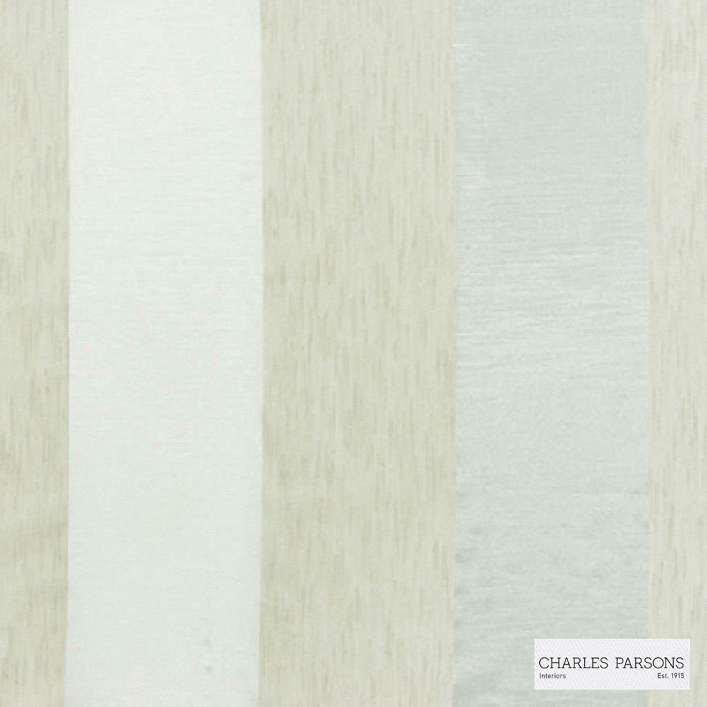 Charles Parsons Interiors - Malo Champagne  | Curtain Sheer Fabric - Beige, Fire Retardant, Stripe, Uncoated, Weave