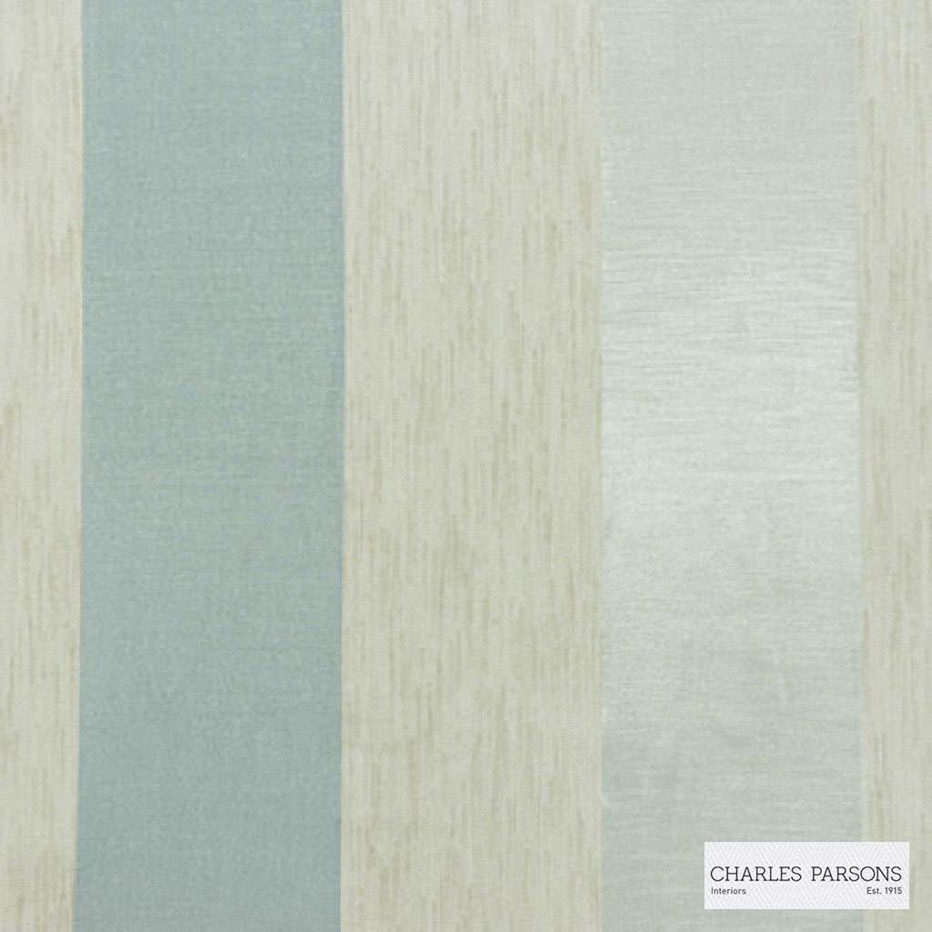 Charles Parsons Interiors - Malo Duckegg  | Curtain Sheer Fabric - Fire Retardant, Stripe, Uncoated, Weave, Commercial Use