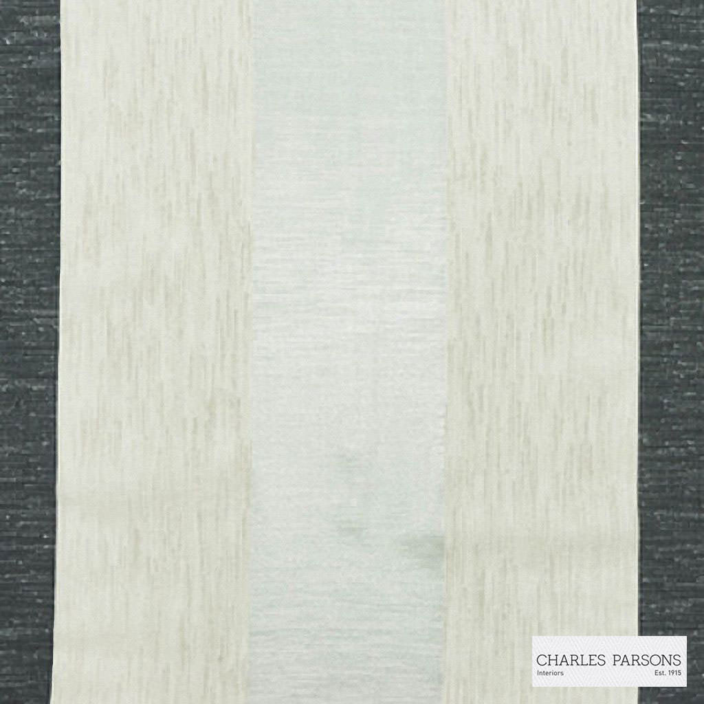 Charles Parsons Interiors - Malo Pewter  | Curtain Sheer Fabric - Fire Retardant, Stripe, Uncoated, Weave, Commercial Use