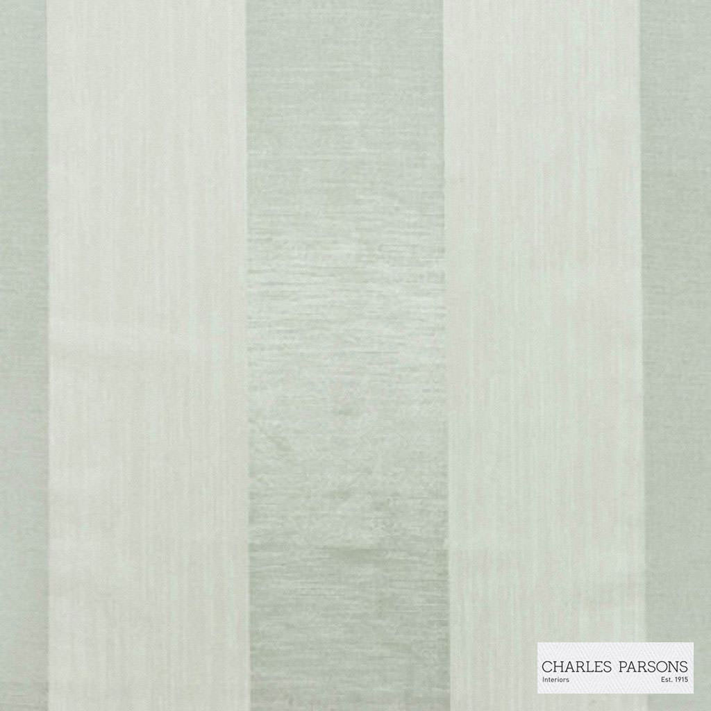 Charles Parsons Interiors - Malo Silver  | Curtain Sheer Fabric - Fire Retardant, Stripe, Uncoated, Weave, Commercial Use