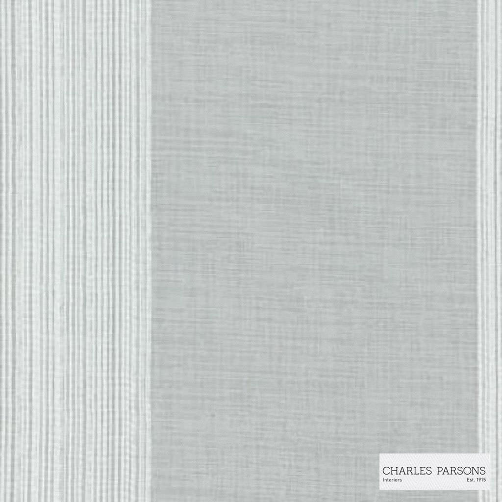 Charles Parsons Interiors - Madeleine Sheer Blanc  | Curtain Sheer Fabric - Grey, Stripe, Uncoated, Weave, Commercial Use
