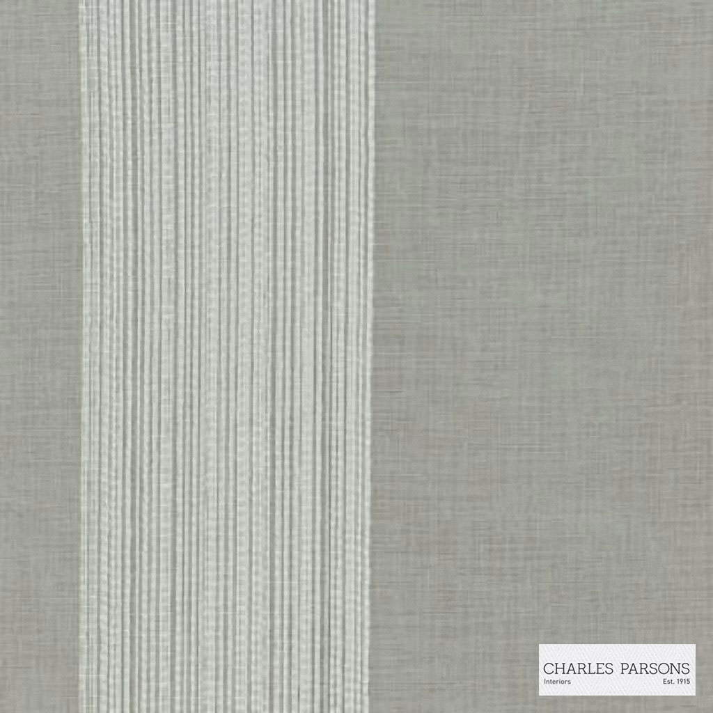 Charles Parsons Interiors - Madeleine Sheer Storm | Curtain Sheer Fabric - Grey, Stripe, Uncoated