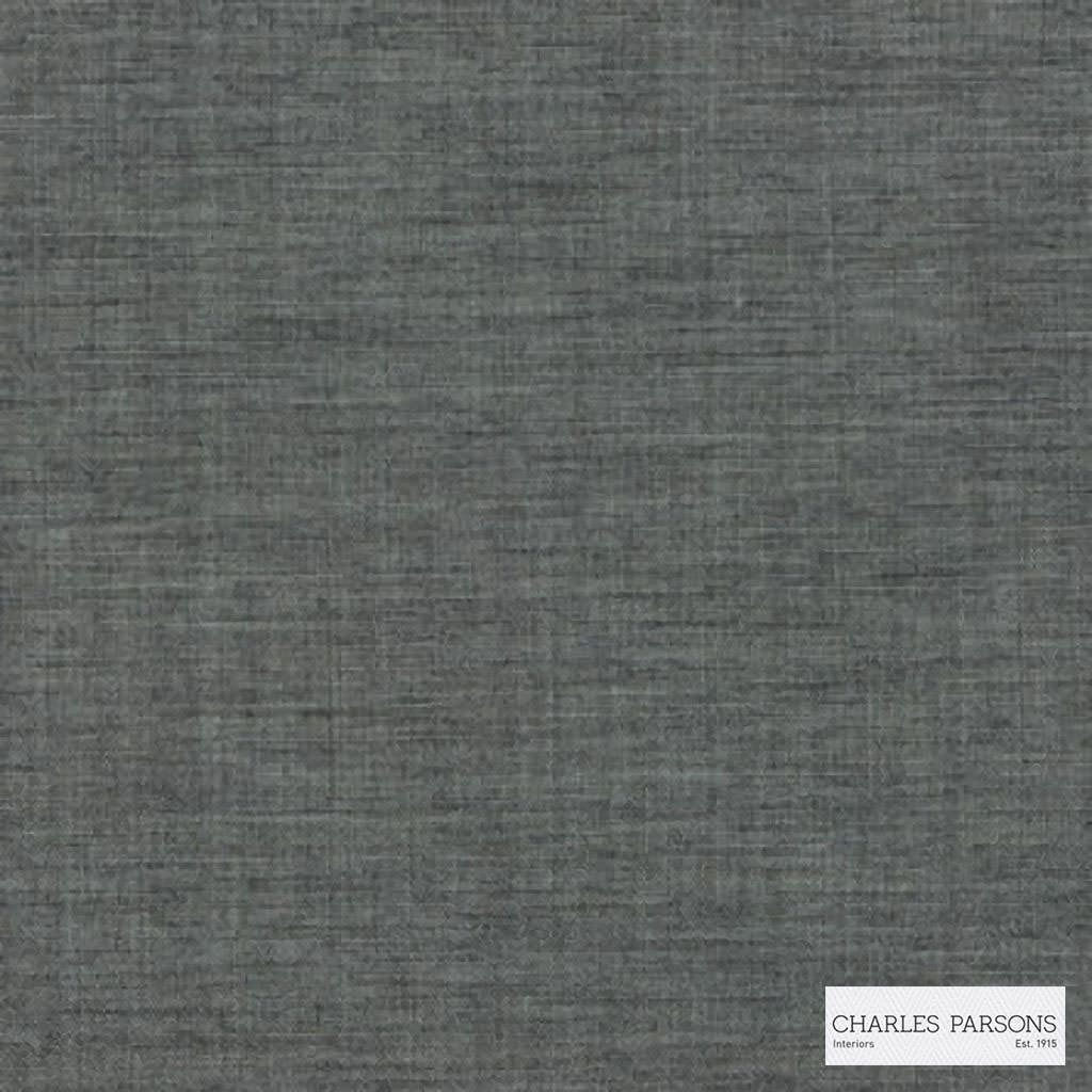 Charles Parsons Interiors - Tenerife Charcoal  | Curtain Sheer Fabric - Grey, Plain, Uncoated, Weave, Commercial Use