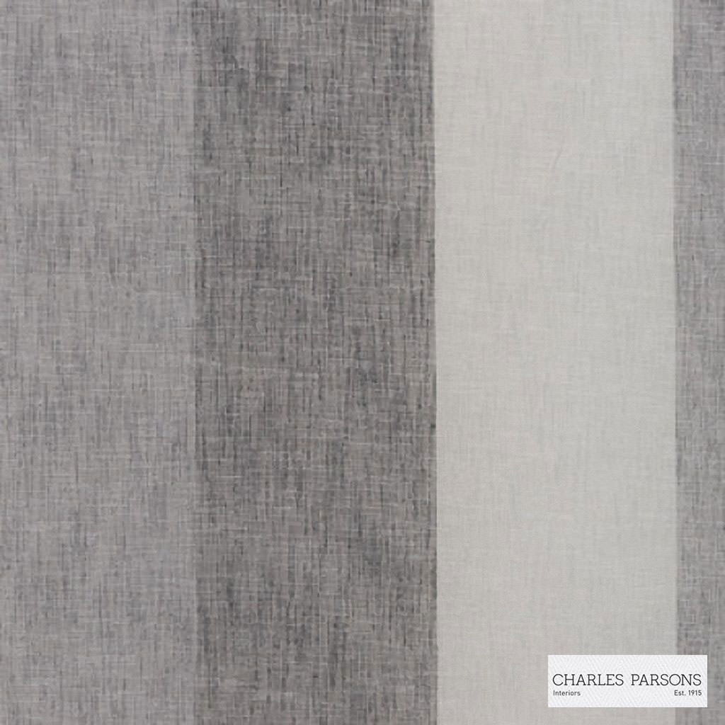 Charles Parsons Interiors - Flaxton Aniseed  | Curtain Sheer Fabric - Fire Retardant, Stripe, Uncoated, Weave, Commercial Use