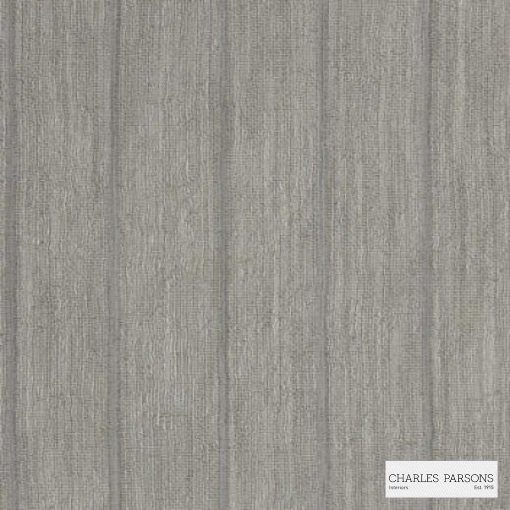 Charles Parsons Interiors - Harper Straw  | Curtain Sheer Fabric - Fire Retardant, Grey, Stripe, Uncoated, Weave