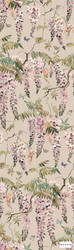Mokum Papillon Wallpaper - Powder  | Wallpaper, Wallcovering - Green, Orange, Pink, Purple, Floral, Garden, Botantical, Decorative, Pattern
