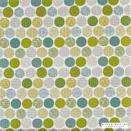 James Dunlop Essentials Planter - Cactus  | Curtain Fabric - Geometric, Pattern, Domestic Use, Print, Top of Bed, Circles