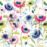 Bluebellgray Grande North Garden - Meadow  | Curtain & Upholstery fabric - Blue, Contemporary, Floral, Garden, Botantical, Print, Fibre Blend