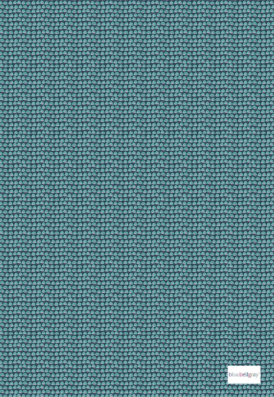 Bluebellgray Tom - Carnival    Curtain & Upholstery fabric - Blue, Green, Geometric, Decorative, Natural, Pattern, Small Scale, Natural Fibre