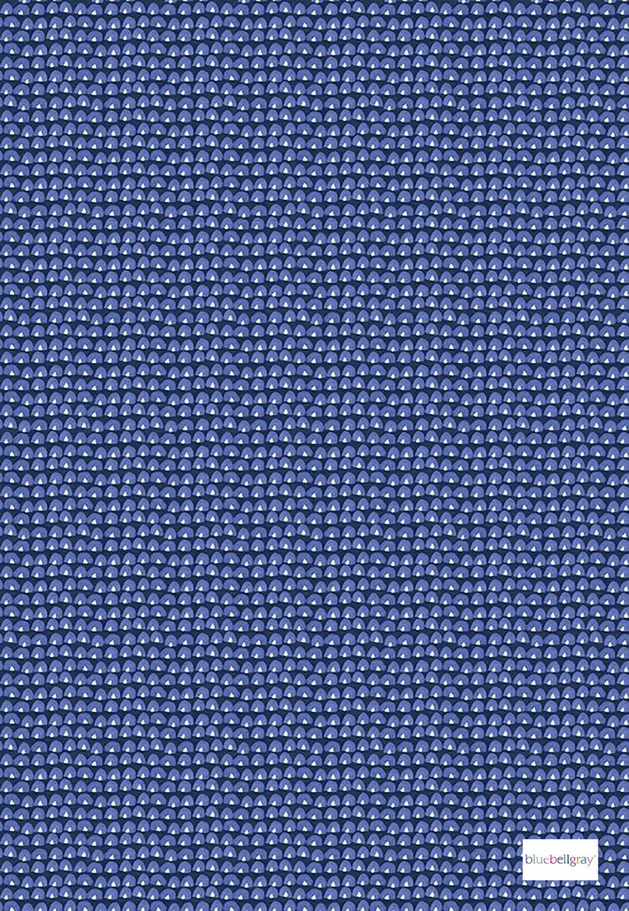 Bluebellgray Tom - Indigo  | Curtain & Upholstery fabric - Blue, Pink, Purple, Geometric, Decorative, Natural, Pattern, Small Scale, Natural Fibre