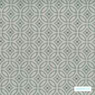 Warwick Battersea - Sky  | Upholstery Fabric - Stain Repellent, Blue, Circlelink, Geometric, Small Scale, Synthetic, Domestic Use, Halo, Circles