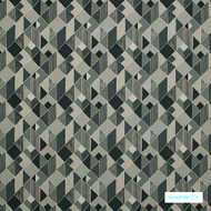 Warwick Ginza - Shale  | Curtain Fabric - Stain Repellent, Grey, Black - Charcoal, Contemporary, Geometric, Synthetic, Commercial Use, Halo
