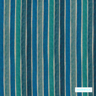 Warwick Jocelyn - Pacific  | Upholstery Fabric - Stain Repellent, Blue, Contemporary, Stripe, Synthetic, Commercial Use, Halo, Standard Width