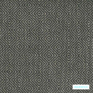 Warwick Abbas - Steel  | Upholstery Fabric - Black, Charcoal, Grey, Diamond, Harlequin, Ikat, Geometric, Bacteria Resistant, Insect Resistant