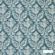 Warwick Jahan - Aquamarine  | Curtain Fabric - Blue, Mediterranean, Traditional, Damask, Fibre Blend, Standard Width