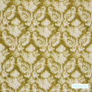 Warwick Jahan - Chartreuse  | Curtain Fabric - Gold, Yellow, Mediterranean, Traditional, Damask, Fibre Blend, Standard Width