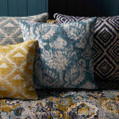 The engaging designer curtain fabrics from the Jahan design style range by Warwick