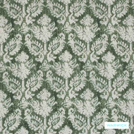 Warwick Jahan - Forest  | Curtain Fabric - Green, Mediterranean, Traditional, Damask, Fibre Blend, Standard Width