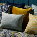 The engaging designer drapery fabrics from the Jahan design style range by Warwick