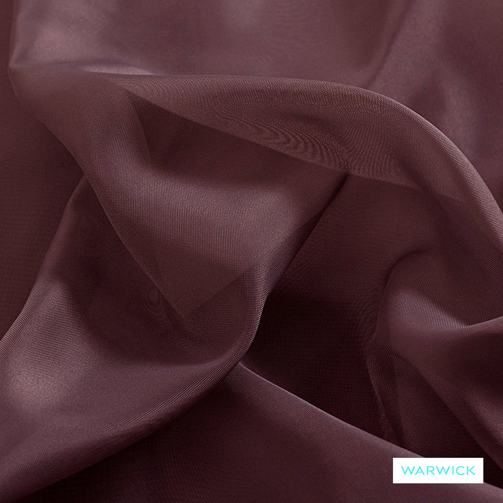 Warwick Marley - Amethyst  | Curtain Fabric - Plain, Pink, Purple, Synthetic, Wide Width