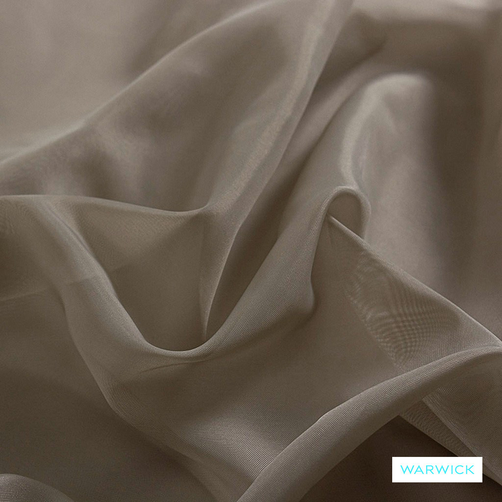 Warwick Marley - Birch  | Curtain Fabric - Brown, Tan, Taupe, Wide-Width, Plain