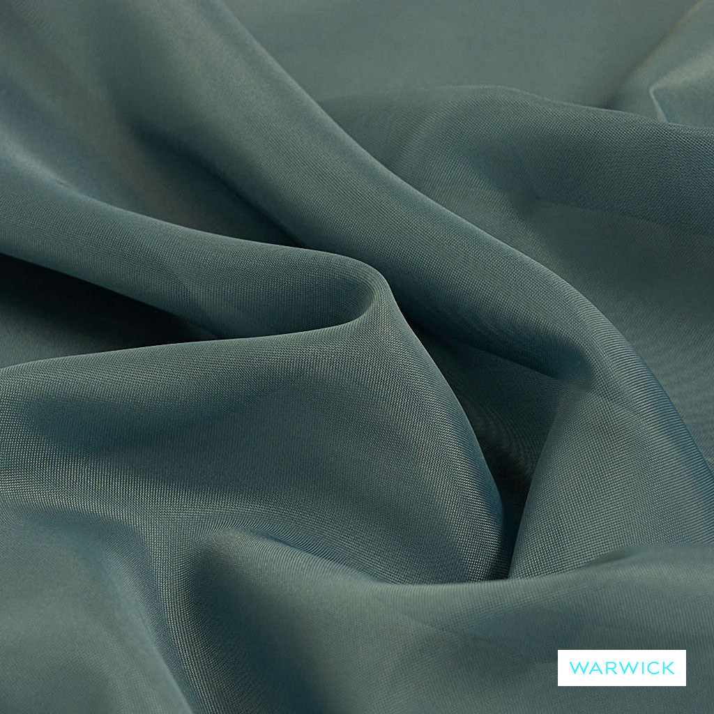 Warwick Marley - Bluestone  | Curtain Fabric - Blue, Wide-Width, Plain