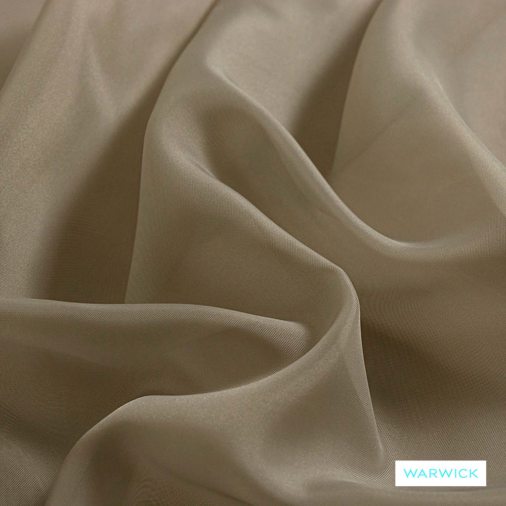 Warwick Marley - Cinnamon  | Curtain Fabric - Beige, Wide-Width, Plain