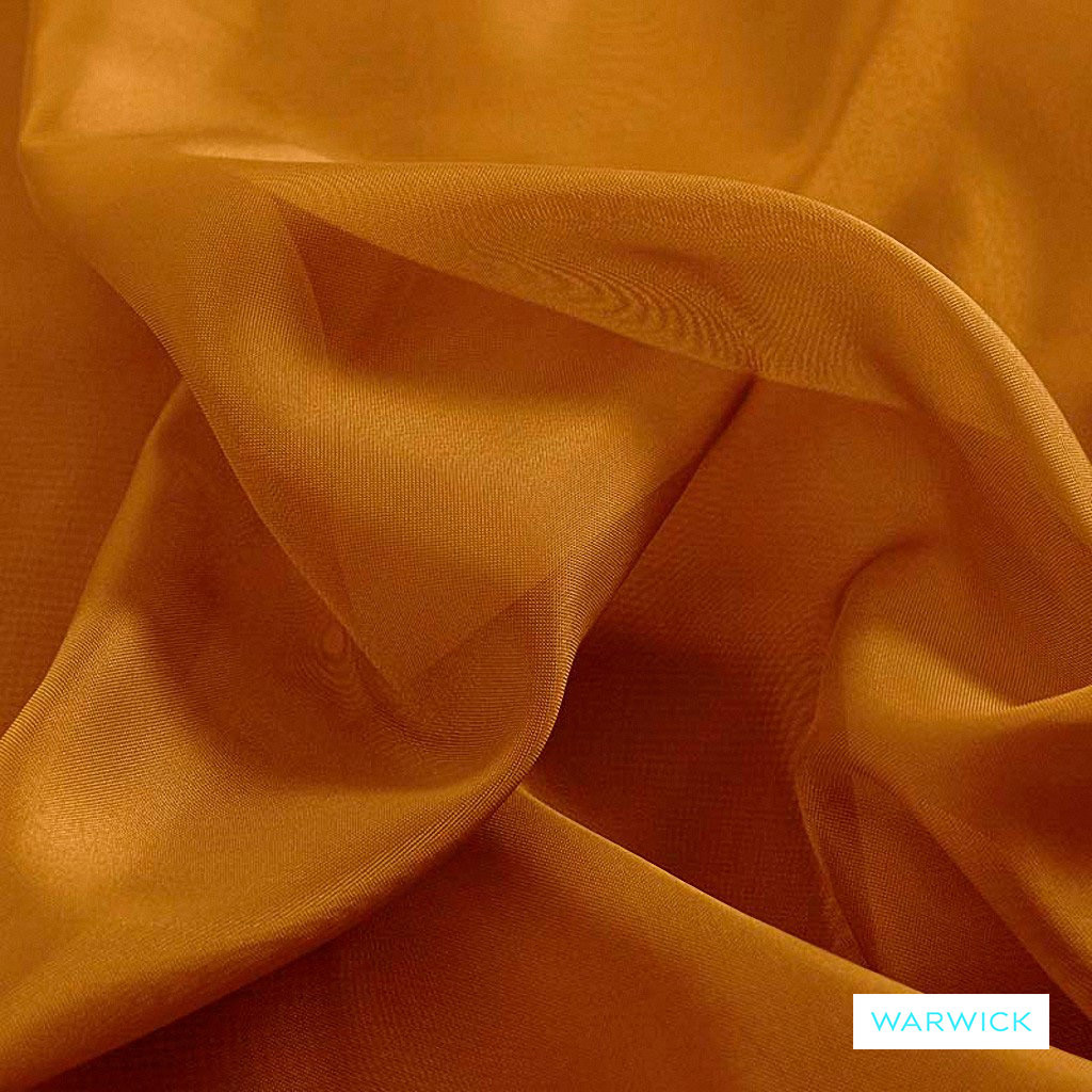 Warwick Marley - Gold  | Curtain Fabric - Gold,  Yellow, Plain, Synthetic, Wide Width