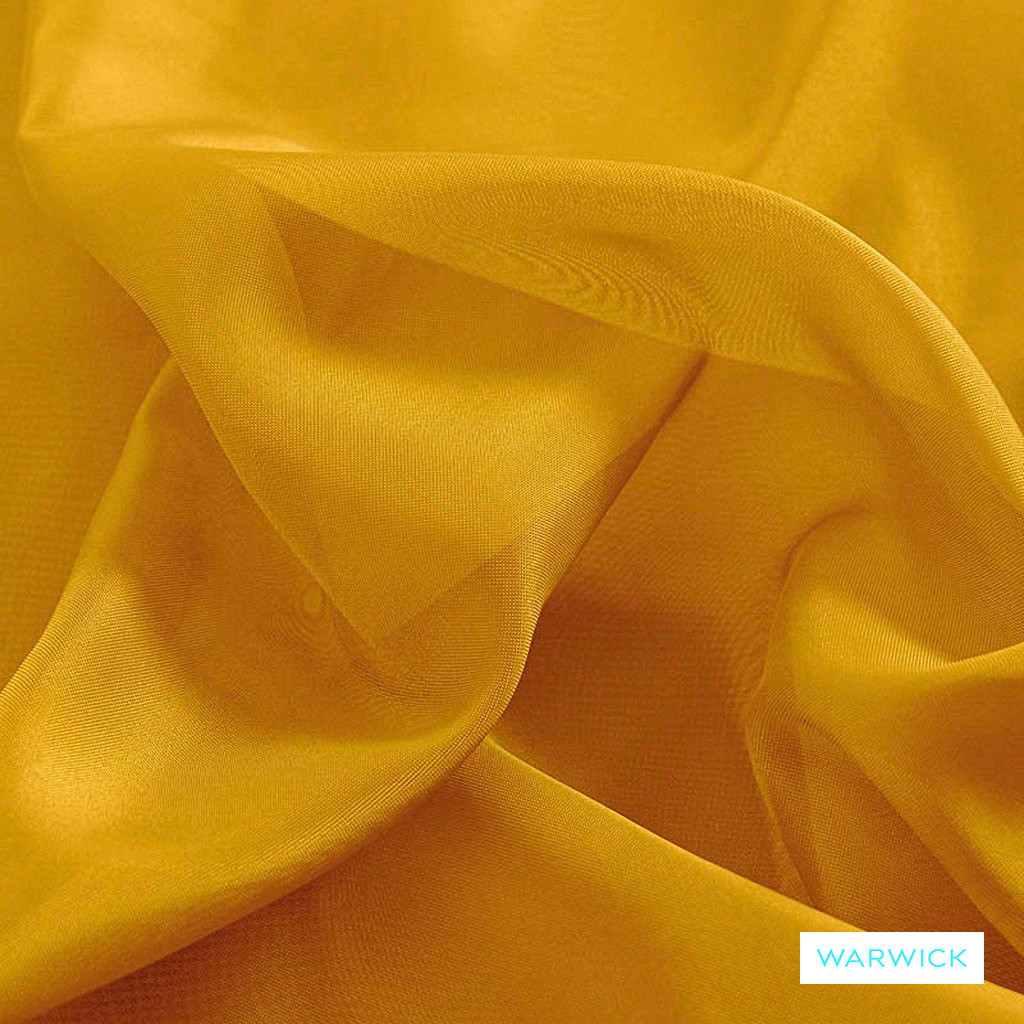 Warwick Marley - Lemon  | Curtain Fabric - Gold,  Yellow, Plain, Synthetic, Wide Width