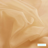 Warwick Marley - Peach  | Curtain Fabric - Plain, Terracotta, Synthetic, Wide Width