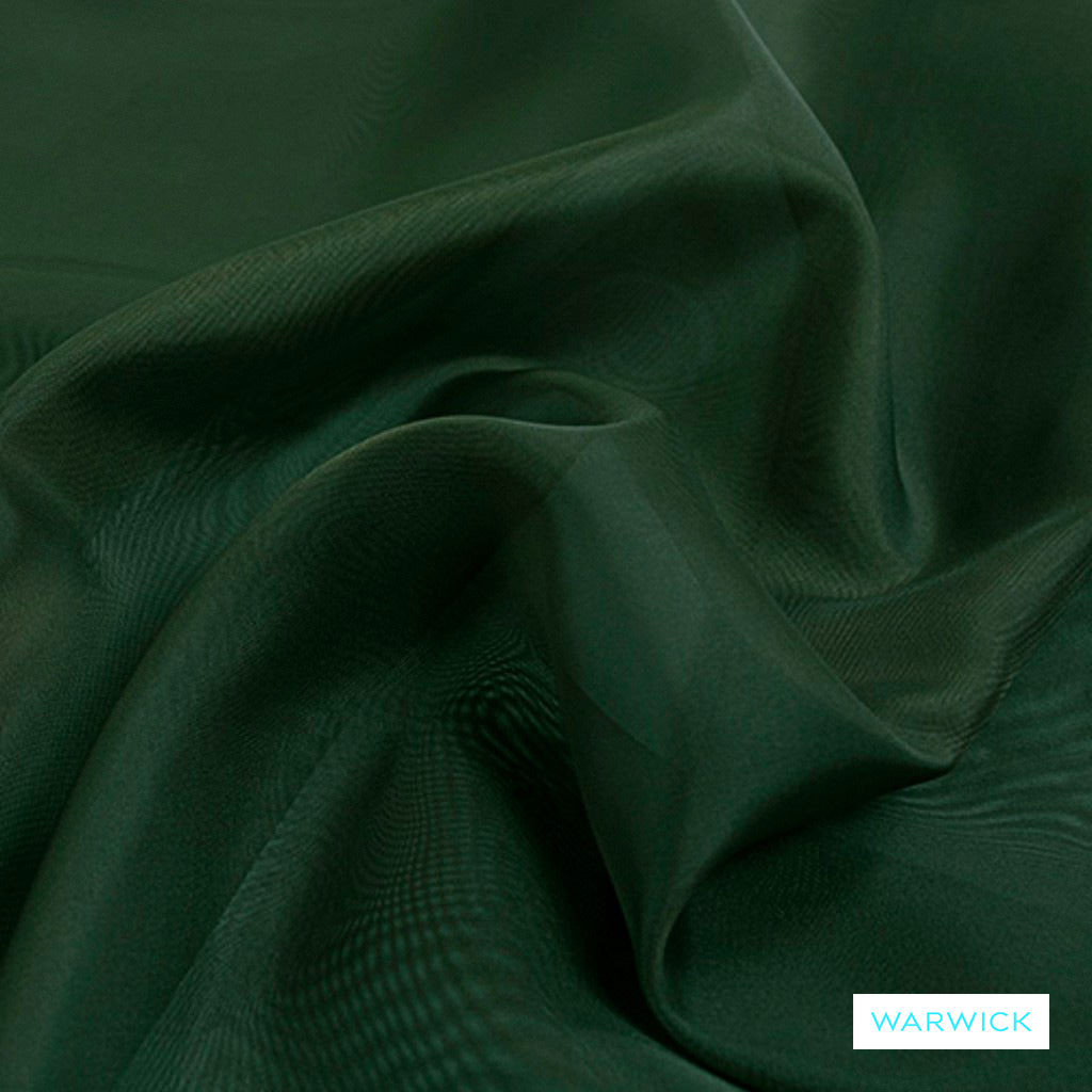 Warwick Marley - Pine  | Curtain Fabric - Green, Wide-Width, Plain