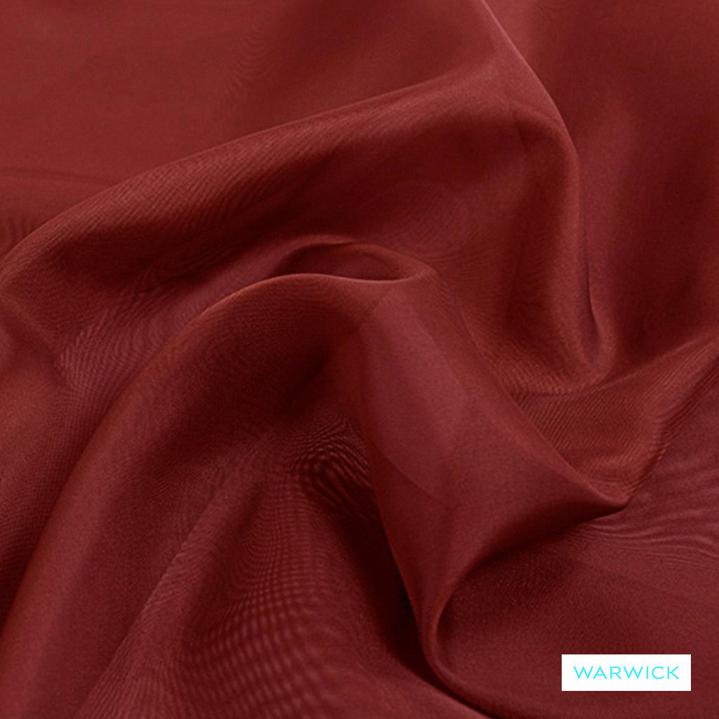 Warwick Marley - Sangria  | Curtain Fabric - Plain, Red, Pink, Purple, Synthetic, Wide Width