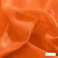Warwick Marley - Tangerine  | Curtain Fabric - Orange, Terracotta, Wide-Width, Plain