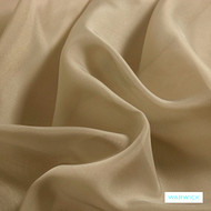 Warwick Marley - Tea  | Curtain Fabric - Gold,  Yellow, Plain, Synthetic, Wide Width